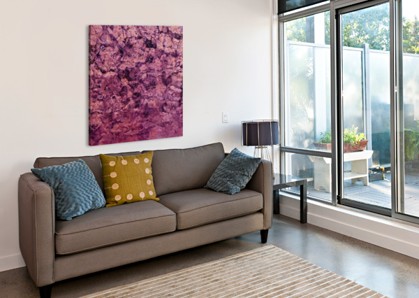 PSYCHEDELIC GRUNGE PAINTING ABSTRACT TEXTURE IN PINK TIMMYLA  Canvas Print