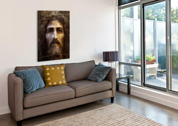 CHRIST FACE RECONSTRUCTION ARTOFCAELIA  Canvas Print