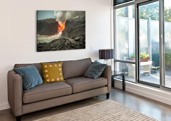 LAVA ENTERING THE OCEAN ANDREA SPALLANZANI  Canvas Print