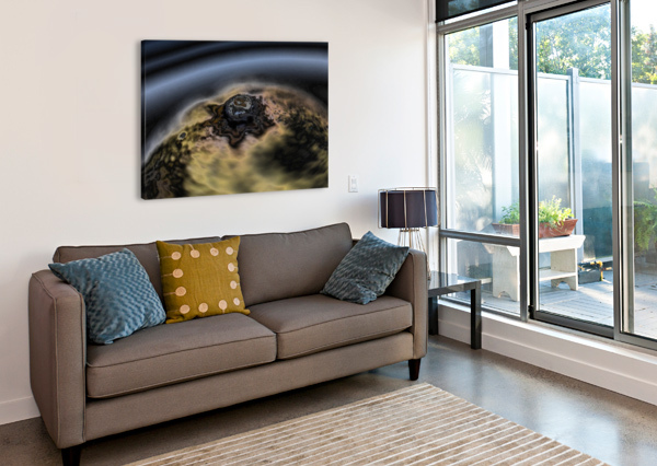 AERIAL VIEW OF PLANET CITRRUS RINGS AZIZOFEGYPT  Canvas Print