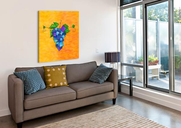 JAMURISSA - SQUARE GRAPES CERSATTI ART  Canvas Print