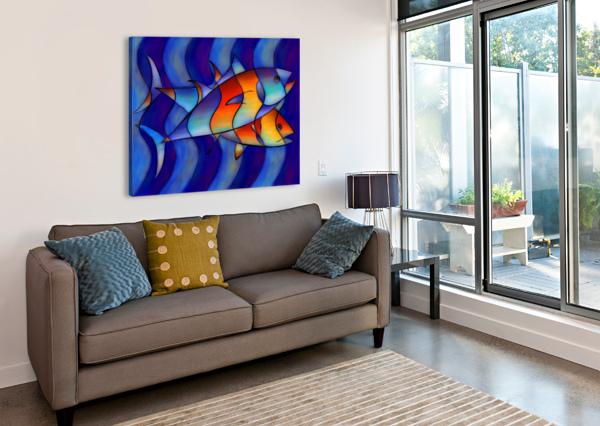 CASSANELLA - DREAM FISH CERSATTI ART  Canvas Print