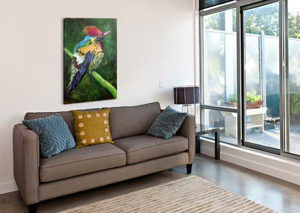 TUFTED COQUETTE HUMMINGBIRD TAMI BOOHER APPALACHIAN NATURE PAINTER  Canvas Print