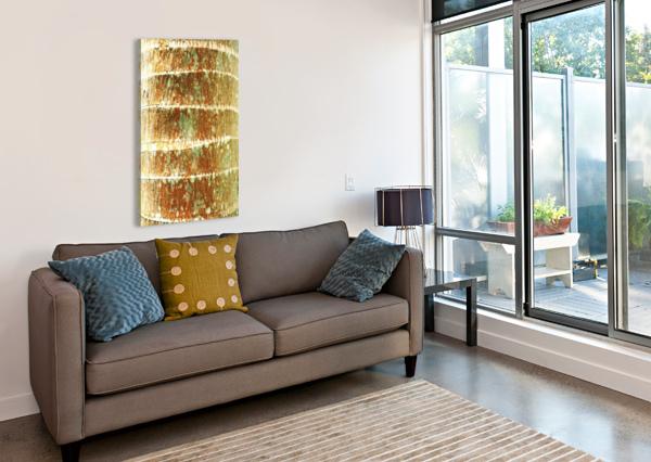 HAWAII, OAHU, CLOSE-UP OF COCONUT PALM TREE BARK TEXTURE. PACIFICSTOCK  Canvas Print