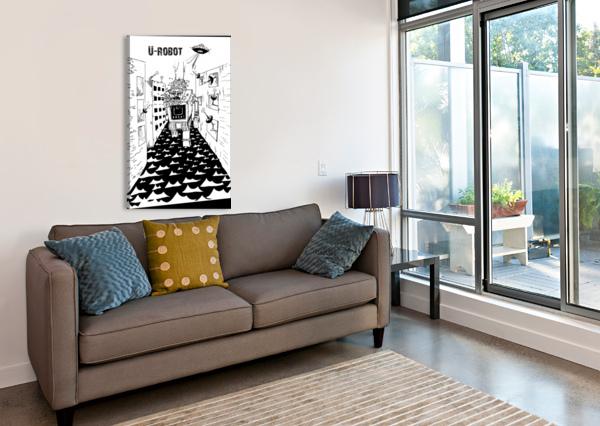 STRUGGLE SEBASTIANO MUNDULA  Canvas Print