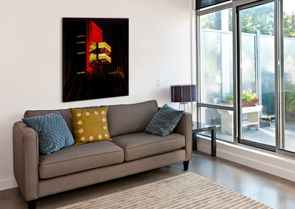 NIGHT AT THE GUTHRIE LISA DREW MINNEAPOLIS PHOTO ARTIST  Canvas Print