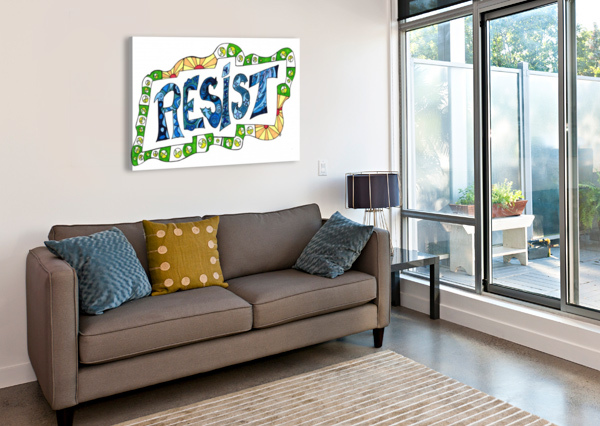 RESIST 3 SUSAN WATSON  Canvas Print