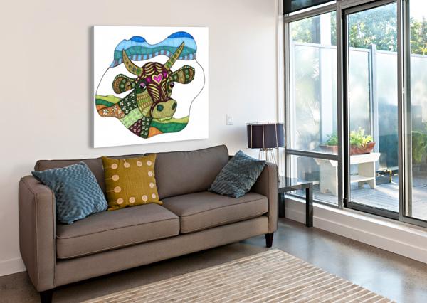 ELSIE COW SUSAN WATSON  Canvas Print