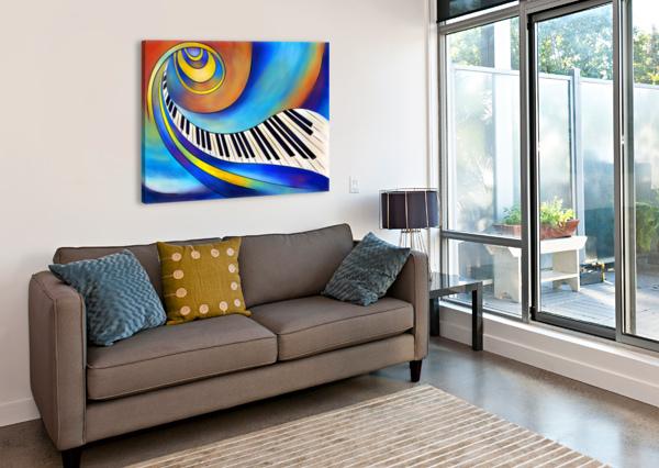 REDEMESSIA - SPIRAL PIANO CERSATTI ART  Canvas Print