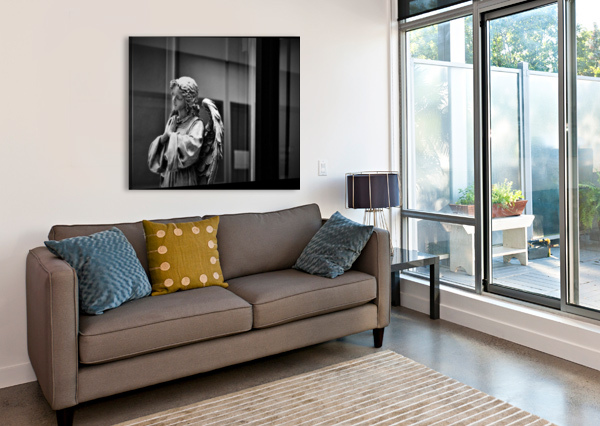 ANGEL IN THE WINDOW DON  BAKER  Canvas Print