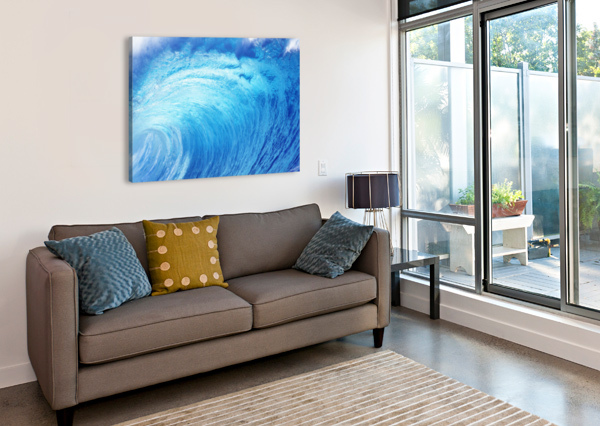 HAWAII, OAHU, NORTH SHORE, CURLING WAVE AT WORLD FAMOUS PIPELINE. PACIFICSTOCK  Canvas Print