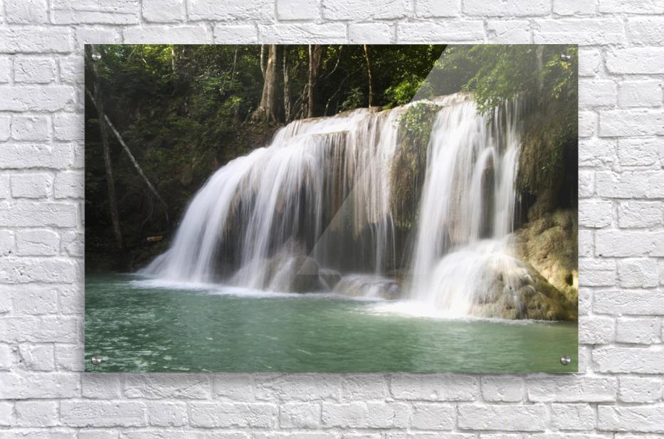 Thailand, Kanchanaburi Province, Erawan National Park, One Of The Falls From The 7-Tiered Erawan Waterfall  Acrylic Print