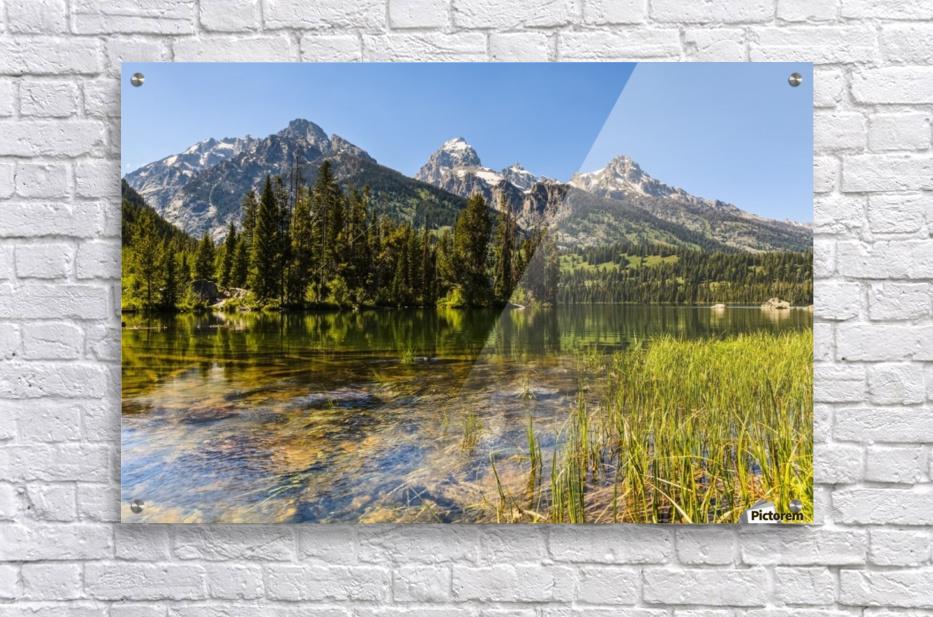 Taggart Lake and Grand Teton, Grand Teton National Park; Wyoming, United States of America  Acrylic Print