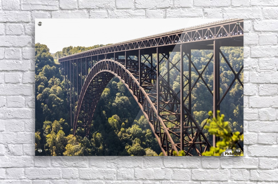 The New River Gorge Bridge is a steel arch bridge 3,030 feet long over the New River Gorge near Fayetteville, in the Appalachian Mountains of the Eastern United States; West Virginia, United States of America  Acrylic Print