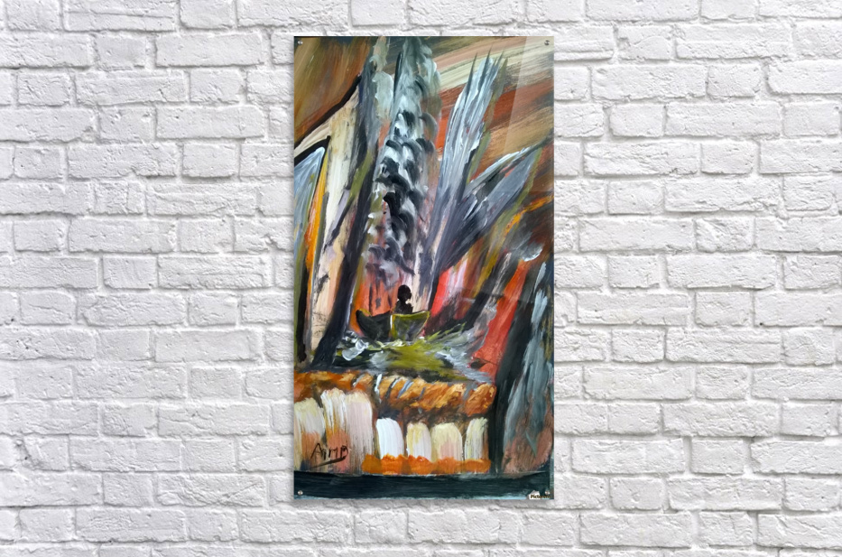 abstact canvas acrylic   Impression acrylique