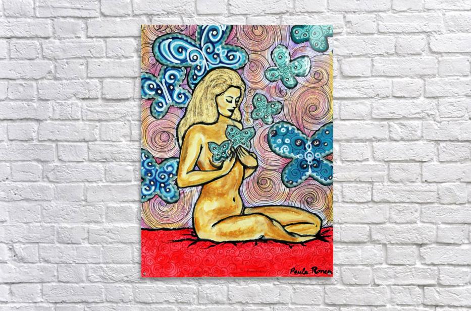 Desnudo con mariposas  Acrylic Print