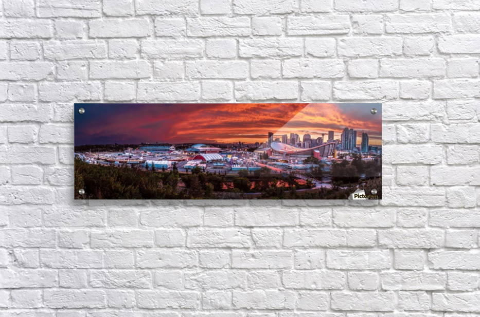 Calgary After the Storm - Fire in the Sky  Acrylic Print