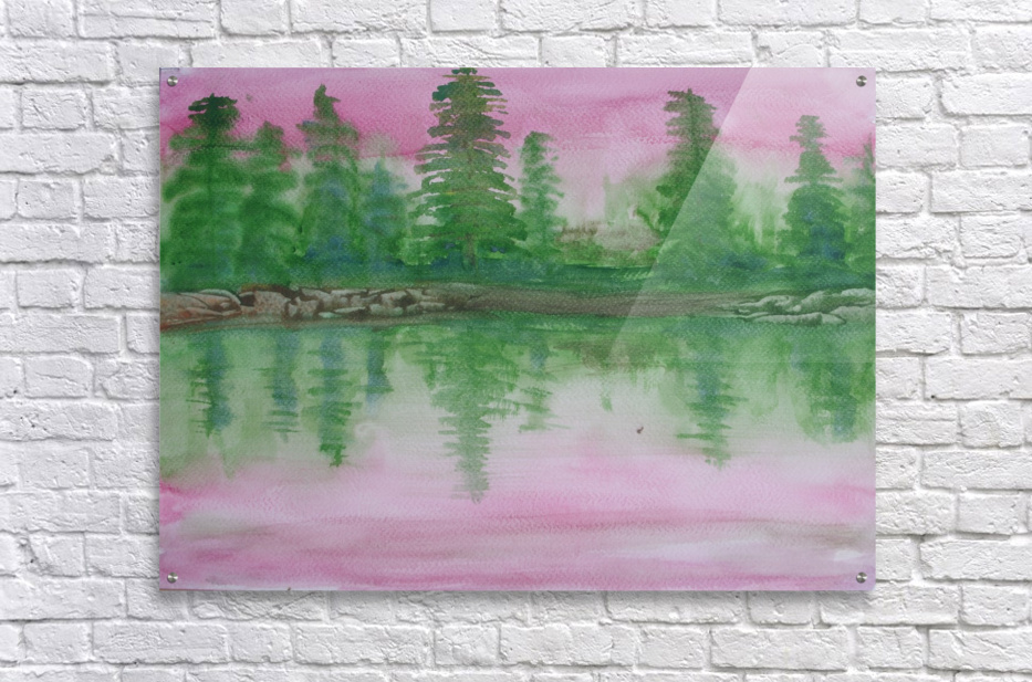 Reflections in the lake.  Acrylic Print