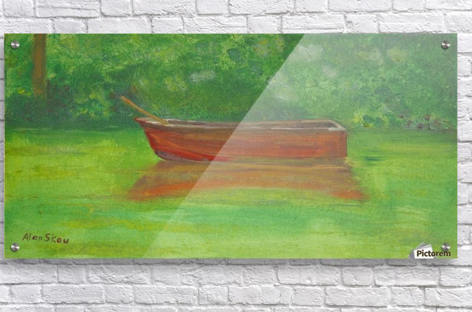 Rowboat drifting.  Acrylic Print