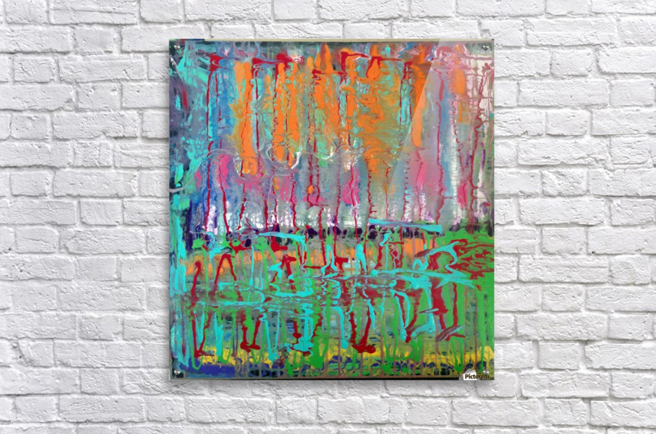 Three Ring Circus a Colorful Abstract Painting  Acrylic Print