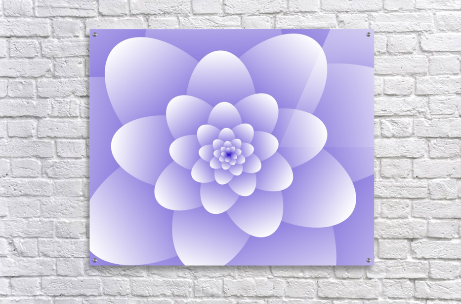 Purple Floral Spiral Artwork  Acrylic Print