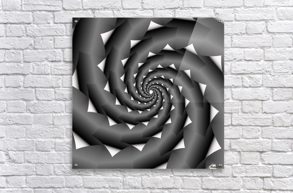 3d Abstract Spiral Design  Acrylic Print