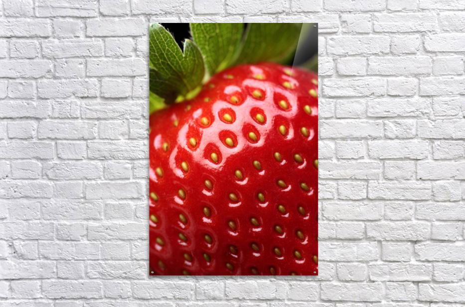 Fresh strawberry close-up  Acrylic Print