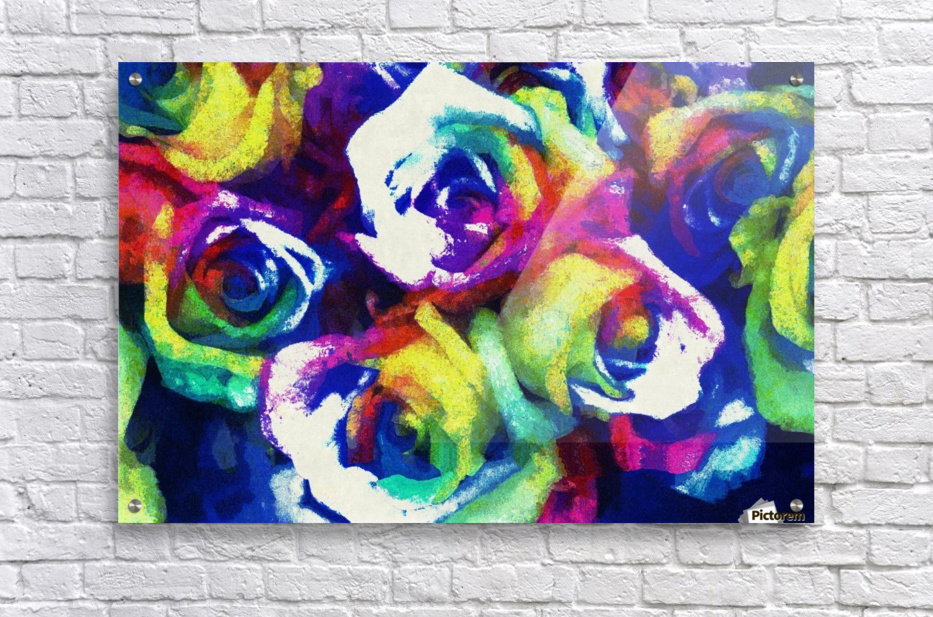 Love Me With Roses  Acrylic Print