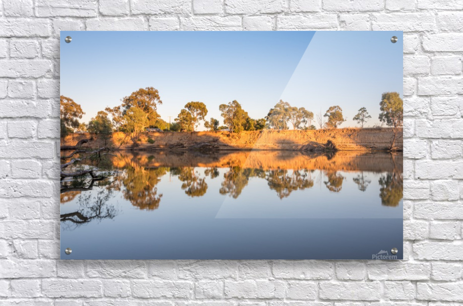 Reflections on the Murray River  Acrylic Print