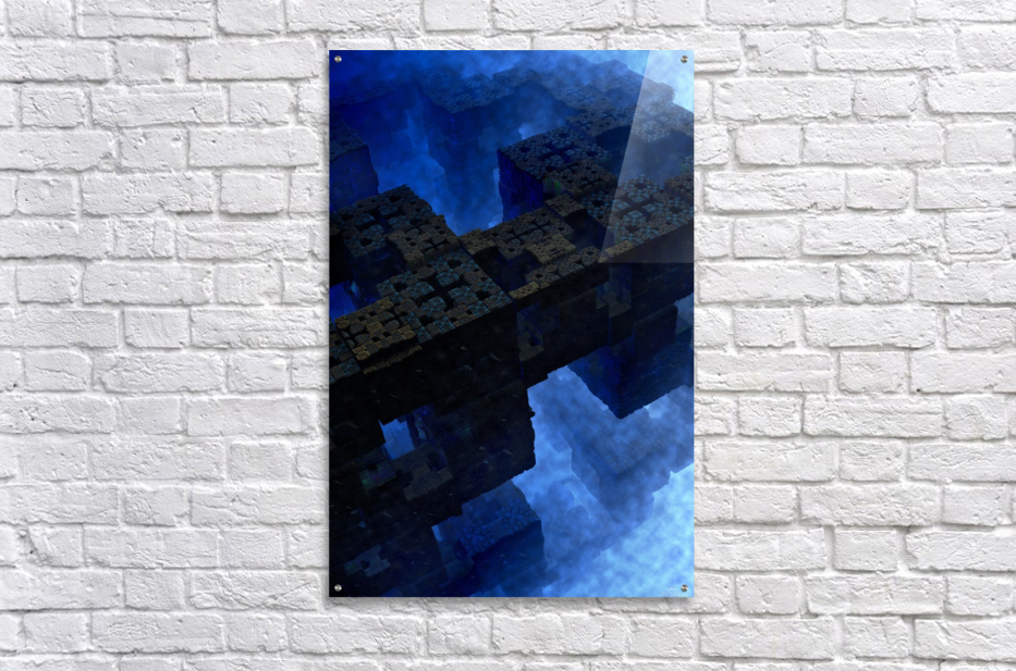 Stones Of Time Fractal Art  Acrylic Print