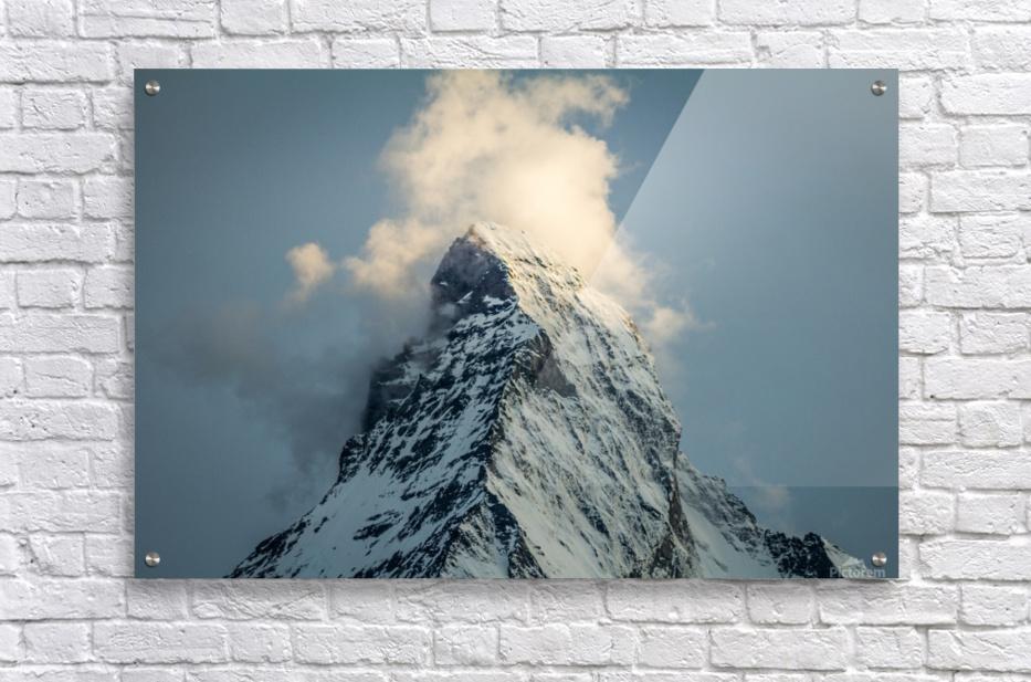 Matterhorn Glow Blue  Acrylic Print