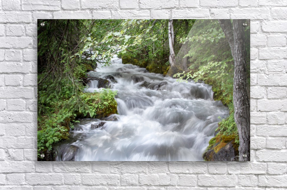 Beautiful Waterfall Photos - Alaska  Acrylic Print