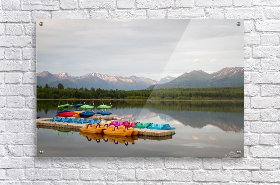 Alaska Lake and Sporting  Acrylic Print
