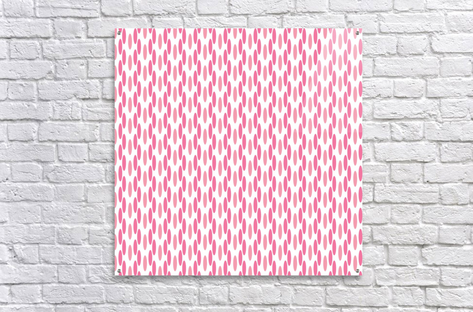 Pink Seamless Pattern Artwork  Acrylic Print