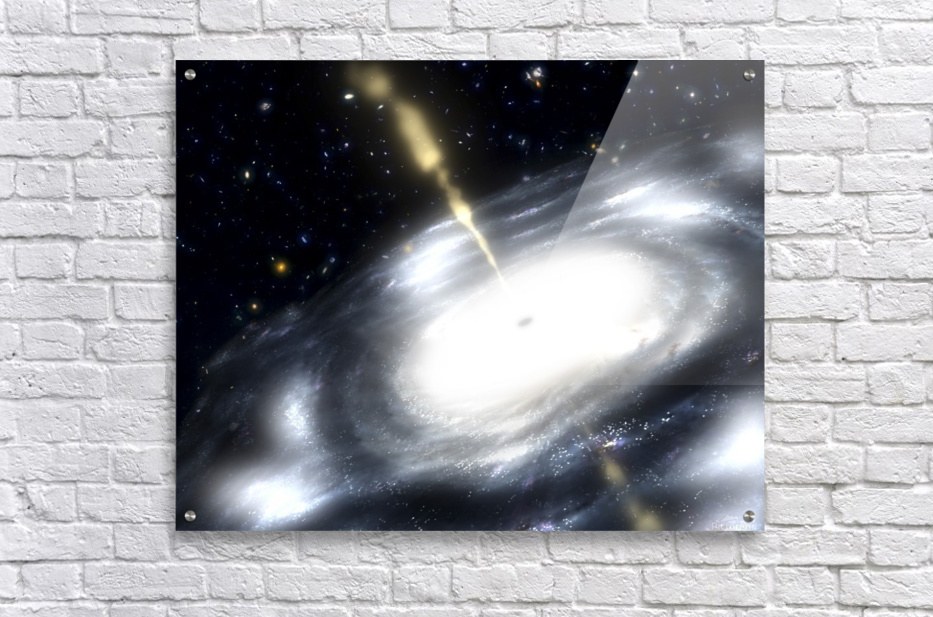 A rare galaxy that is extremely dusty and produces radio jets  Acrylic Print
