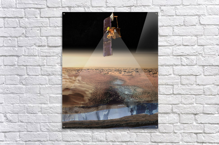 Artists View of Odyssey Detecting Ice.  Acrylic Print