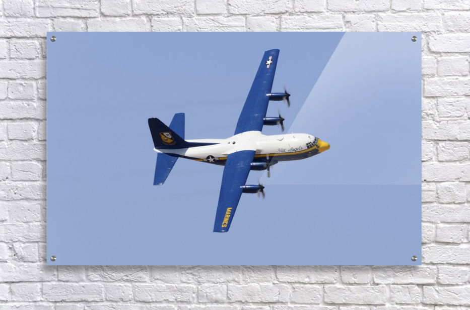 A C-130 Hercules of the Blue Angels flight demonstration squadron.  Acrylic Print