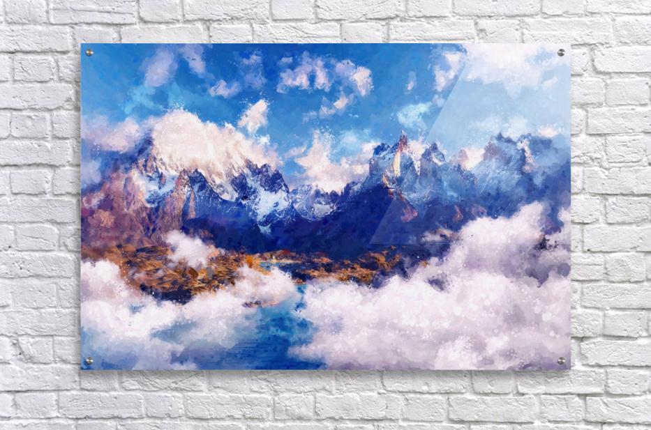 Mountains Artwork II  Acrylic Print