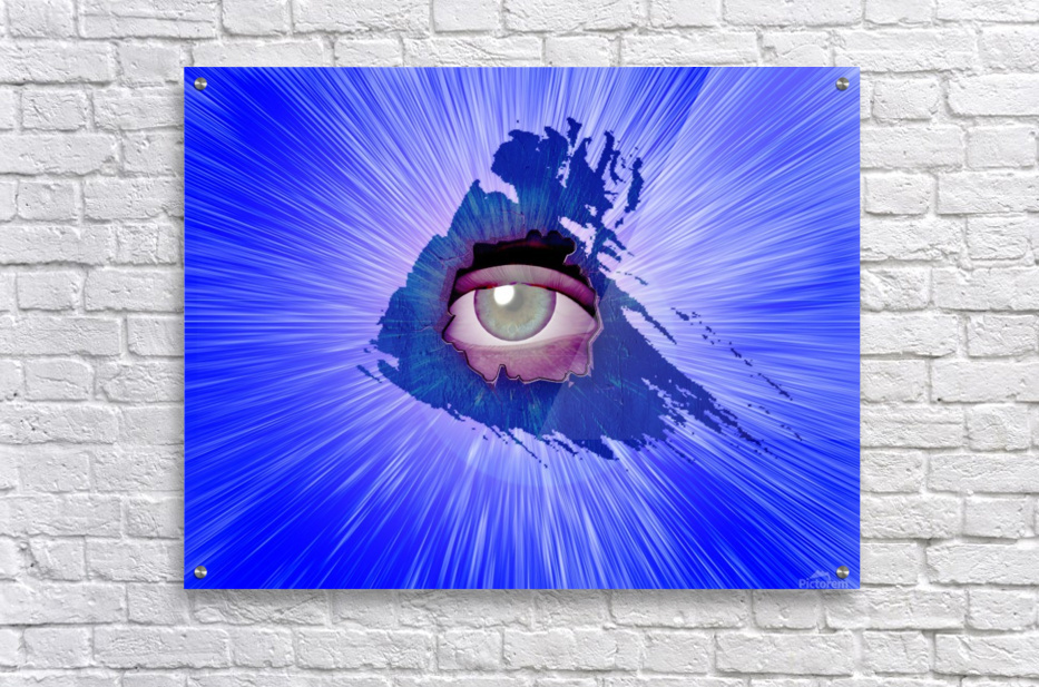 Eye behind wall crack  Acrylic Print