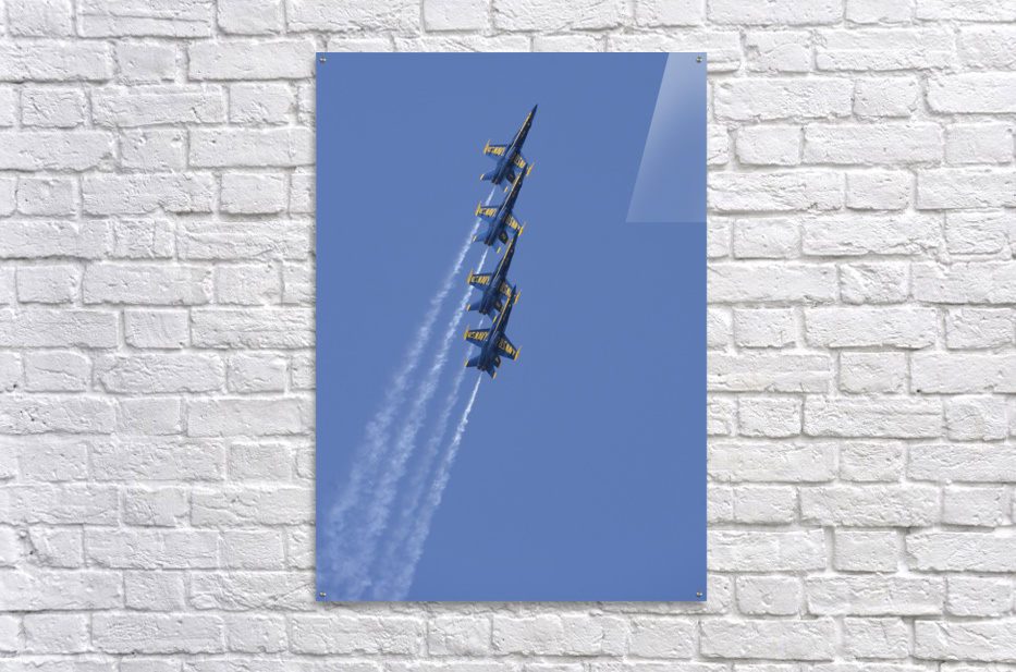 U.S. Navy flight demonstration squadron the Blue Angels.  Acrylic Print