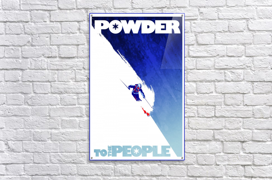 Powder To The People   Acrylic Print
