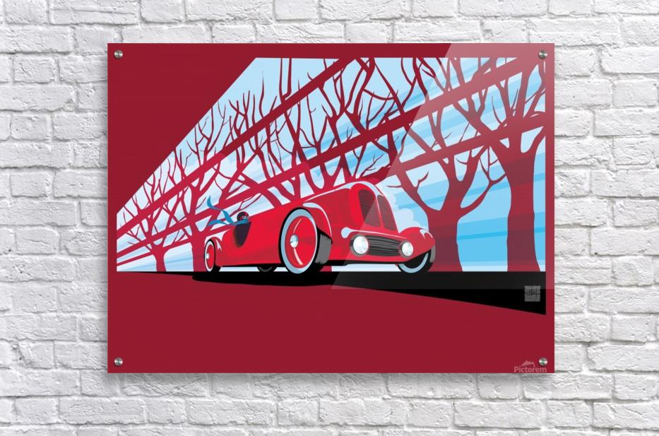 Vintage auto racer  Impression acrylique