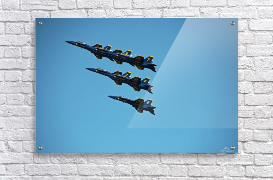 USN Blue Angels Formation  Acrylic Print