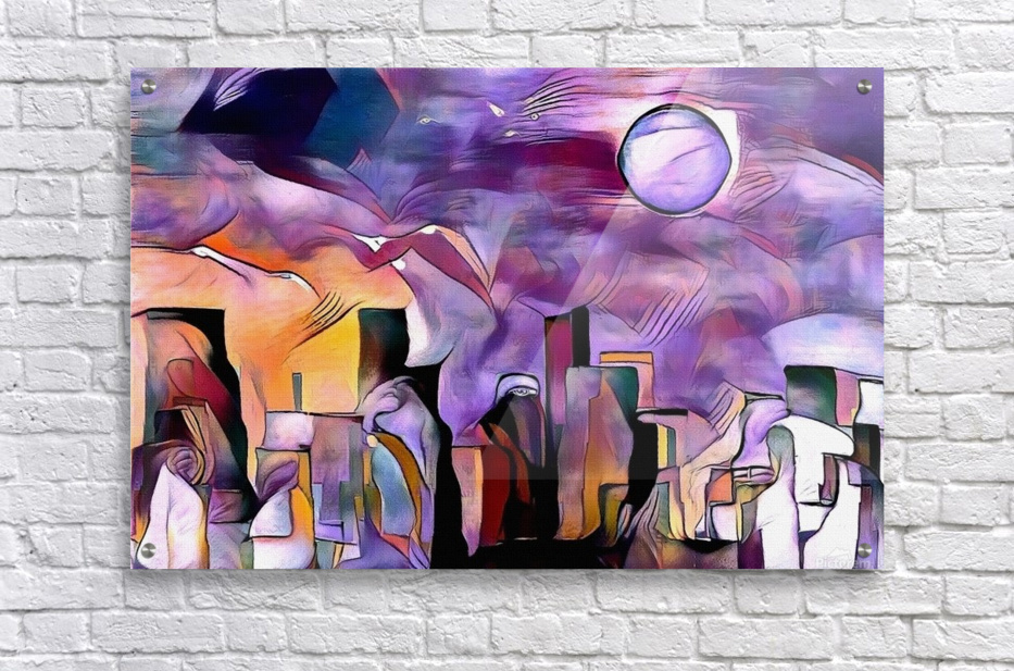 Colorful City Silhouettes  Acrylic Print