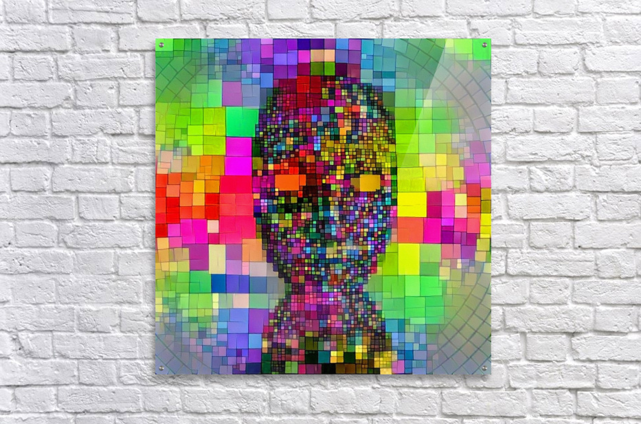 Mysterious Colorful Mask  Acrylic Print