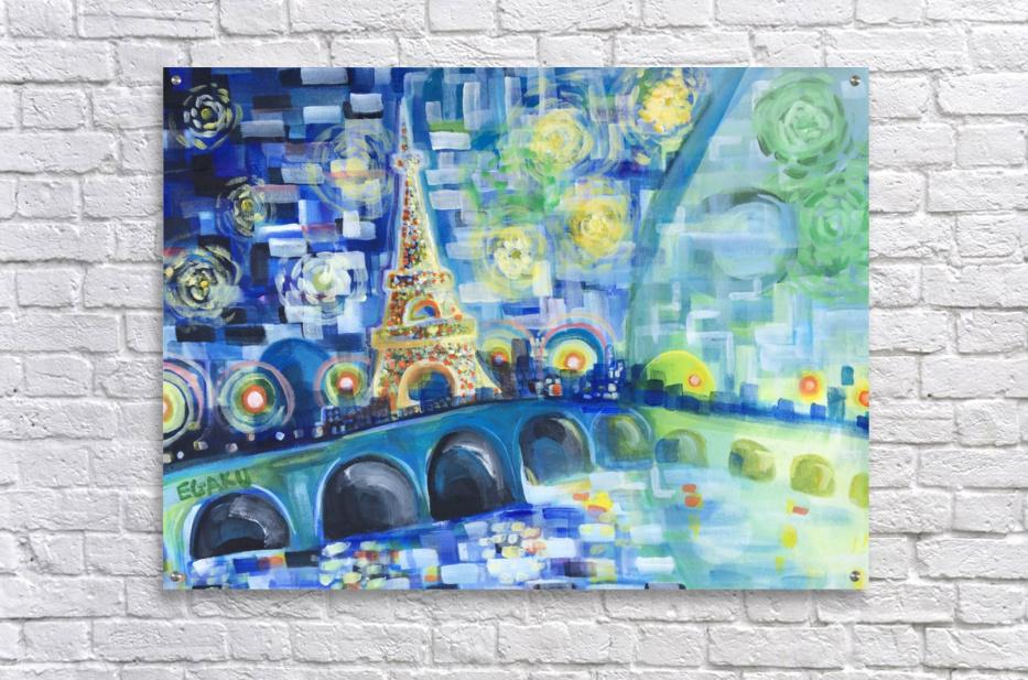 PARIS COLORS OF LOVE  Acrylic Print