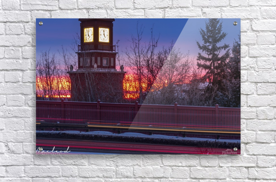 StAlbertTrail_StAlbertClock_Jan18_IMG_6032  Acrylic Print