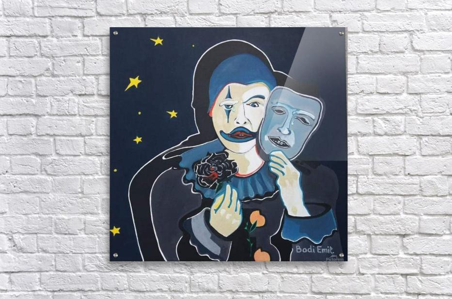 Arlequin a rose noir  Acrylic Print