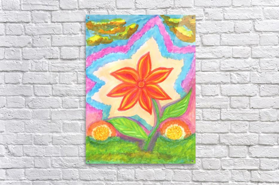Magic scarlet flower   Acrylic Print
