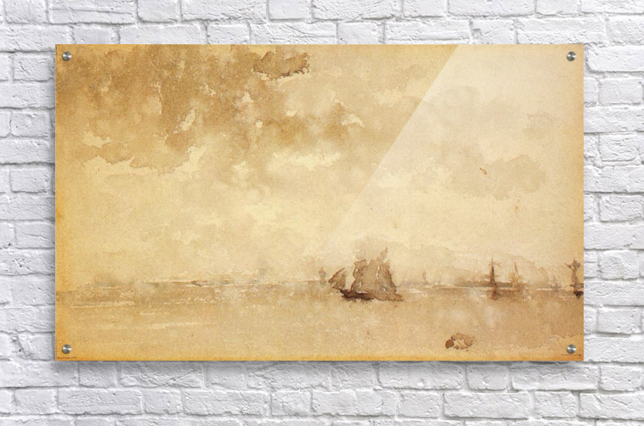 Seascape, a grey note by Whistler  Acrylic Print